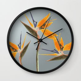 Strelizia - Bird of Paradise Flowers Wall Clock