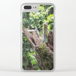 A cyclone damaged tree in the rain forest Clear iPhone Case