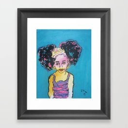 Black Queen in training 2 Framed Art Print