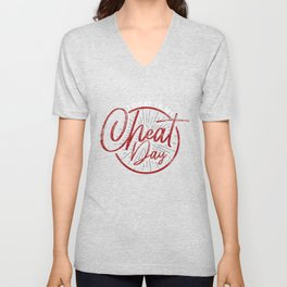Today Is My Cheat Day Unisex V-Neck