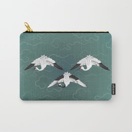 Three White Cranes Carry-All Pouch
