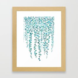 String Of Pearls plants watercolor 2 Framed Art Print