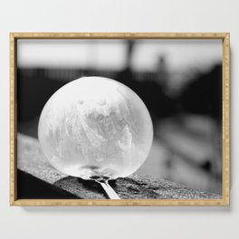 Black and White Frozen Bubble Serving Tray