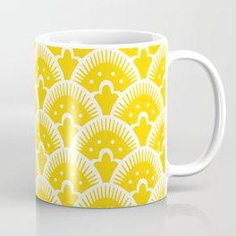 Fan Pattern Yellow 201 Coffee Mug