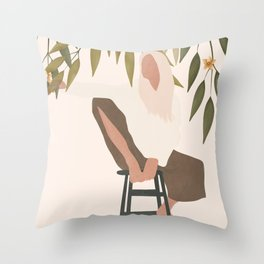Chill Day Throw Pillow