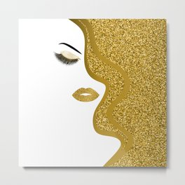 Gold gitte woman Metal Print