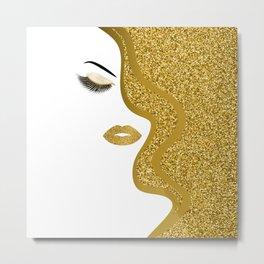 Gold gitte woman Metal Print