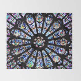 Cathedral Stained Glass Throw Blanket