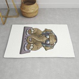 Elephant Dj Music Rug