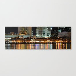 Waterside Norfolk Harbor Canvas Print