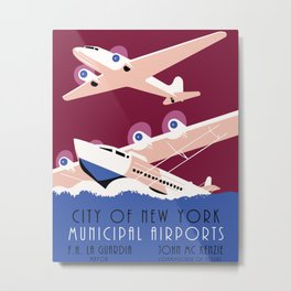 City of New York municipal airports Metal Print
