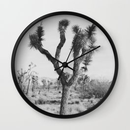 Joshua Tree in Black and White Wall Clock