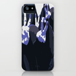Blue Ink Victory iPhone Case
