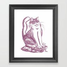 Geek Cat  Framed Art Print