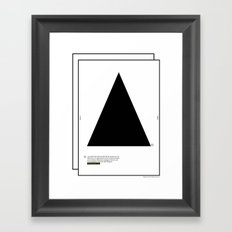 Geometric  - Dreieck . (Spanish) Framed Art Print