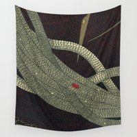 medicine Wall Tapestries featuring take your medicine (cropped 2) by thefleafarm (Amy Wright)