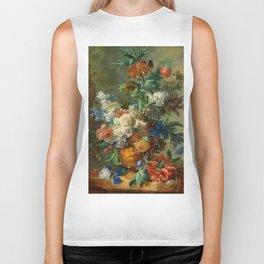 "Jan van Huysum ""Still Life with Flowers"" Biker Tank"