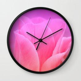 Pinky Tulip Wall Clock