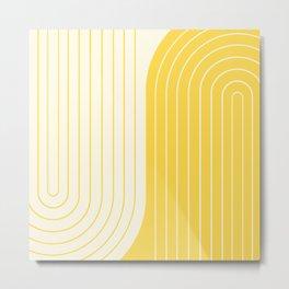 Two Tone Line Curvature V Metal Print