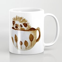 Hedgehog in a Cup Painted with Coffee Coffee Mug