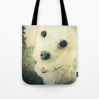 poodle Tote Bags featuring Poodle by JMcCool