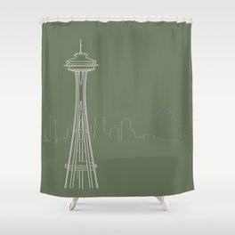 Seattle by Friztin Shower Curtain