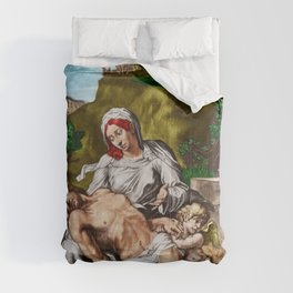 """""""And so it is"""" - The Death of Jesus Landscape Painting by Jeanpaul Ferro Comforters"""