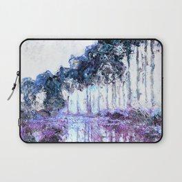 Monet : Poplars Lavender Periwinkle Deep Blue Laptop Sleeve