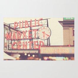 Seattle Pike Place Public Market photograph, 620 Rug