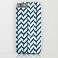 Herringbone Navy iPhone 6s Slim Case