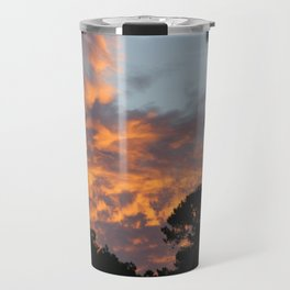 There is fire in the Sky. Sunset series Travel Mug