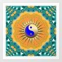 Sunshine YinYang Teal Orange by webgrrl