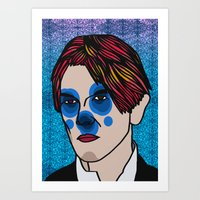 david bowie Art Prints featuring David Bowie by Arnaud Pagès