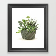 Watercolor Succulents Framed Art Print