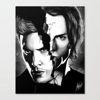 winchester Canvas Prints featuring Winchester Bros. by ArtisticCole