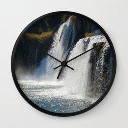 Waterfalls KRK, Croatia Wall Clock
