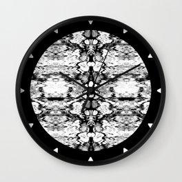 Modern Bohemian Black and White Pattern Wall Clock