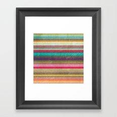 Stripes - pattern Framed Art Print