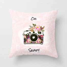 Oh Snap! Throw Pillow