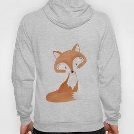 Cute fox kids illustration on white background Hoody