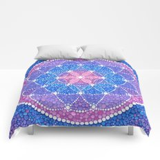 Starry Flower of Life Comforters