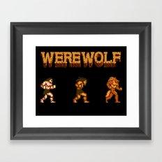 Unleash the beast- werewolf tribute Framed Art Print