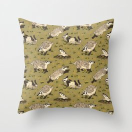 American Badgers Throw Pillow