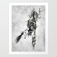 witch Art Prints featuring Witch by Elias Aquino