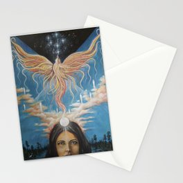 Ascension // Visionary Art Phoenix Spirit Soul Consciousness Spiritual Chakra Awakening Lightworker Stationery Cards