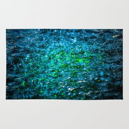 Water Color - Green Rug