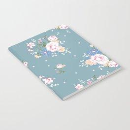 Heirloom Rose - Teal Notebook