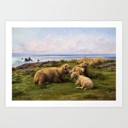 Rosa Bonheur - Sheep By The Sea - Digital Remastered Edition Art Print