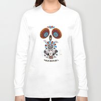 mexican Long Sleeve T-shirts featuring Mexican Owl by Msimioni