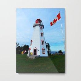 Lighthouse Panmure Island Metal Print